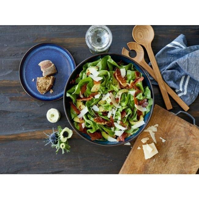 Salad Bowl black/blue 30 cm