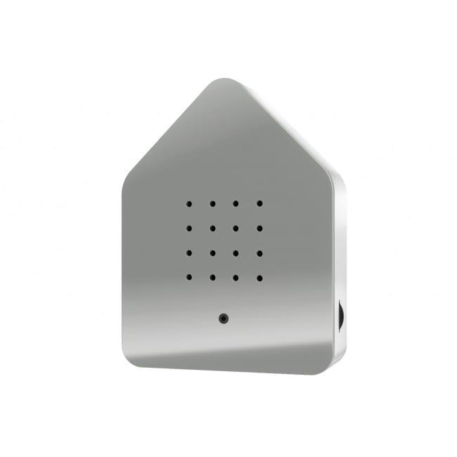 Zwitscherbox Spiegel Grau
