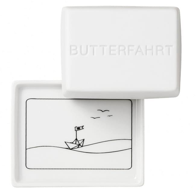 Butterdose Porzellan Butterfahrt - Räder