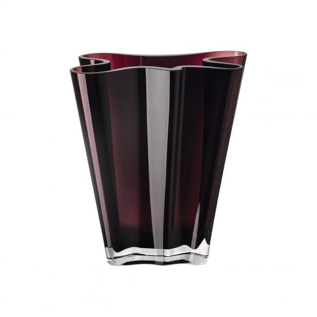 Vase Flux 26 cm Glas/berry - Rosenthal