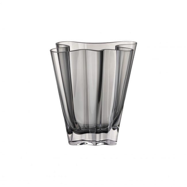 Vase Flux 20 cm Glas/grau - Rosenthal