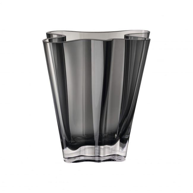 Vase Flux: 26 cm Glas/grau - Rosenthal